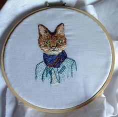 Embroidery / Bordado rusos / cats / gatos