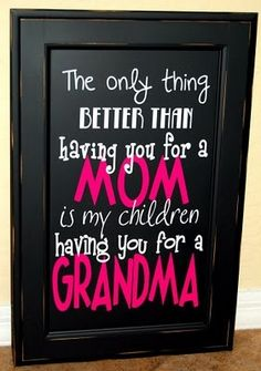 I will def make one for my mom!