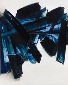 SOULAGES ❤️ Nov, 21 1959 #soulages #inspiration #artwork #masterpiece #artlovers #painting #black #blue #artist