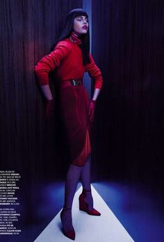 Blazing Crimson Editorials : Vogue Germany February