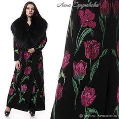 Роскошное вышитое пальто со съемным воротником Королевские Тюльпаны – купить в интернет-магазине на Ярмарке Мастеров с доставкой