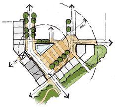 Architecture Concept Drawings, Landscape Architecture Design, Architecture Plan, Urban Design Concept, Urban Design Plan, Landscape Concept, Landscape Plans, Conceptual Sketches, Plan Sketch