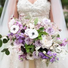 A Pastel Pretty Bouquet Is Perfect For Any Season Purple Wedding Bouquets Flowers