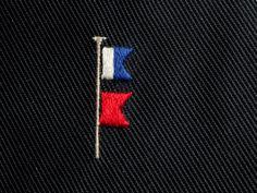 Flag Embroidery / Needlework on Finollo Tie | Ricamo cravatta Finollo con bandiere nautiche
