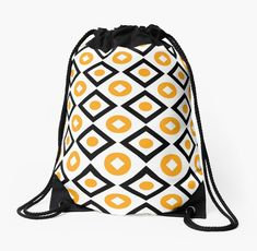 Buy Sunyellow pattern of rhombuses and circles Drawstring Bags by Steffen Remter on Redbubble!.   ★ Check out and love:   https://remter.de http://redbubble.com/people/balticlapse   ★ Worldwide shipping available at redbubble.com.   ★ #balticlapse #remter #design #art #Remter #framed #print #tshirt #iphone #ipad #case #mug #skirt #scarf #pillow #printed #tote #bag #society6 #redbubble #artprint #redbubble #homedecor #homedesign #pillows #pattern #tops #fashion #womensfashion #mugs