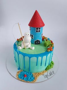 Ocean Cake, Little My Moomin, Birthday Parties, Birthday Cake, Cupcake, Snoopy, Desserts, Cakes, Food