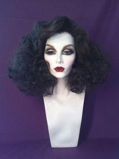 Drag Queen Vamp Dynasty Jane Russell Inspired Dark Brown Wig Custom Styled | eBay
