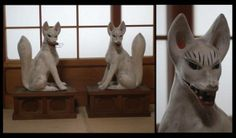 Fox fox fox shrine guardian angel esoteric Buddhism temples Shinto temple Buddha - Yahoo! Auctions!