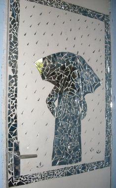 moisaico vidro Mirror Mosaic, Mosaic Art, Mosaic Glass, Stained Glass, Mirror Crafts, Diy Mirror, Crafts For Teens, Fun Crafts, Broken Mirror Art