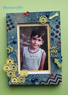 Boyish photo frame