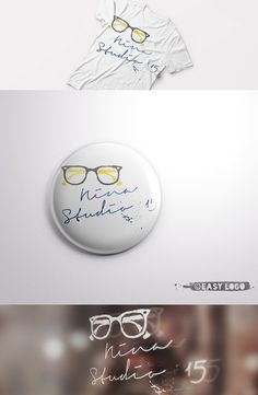 Hipster Glasses Logo Design. Business Logo. Cute by EasyLogo