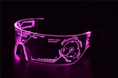 Pink Futuristic LED Visor Glasses - Perfect For Cosplay and Festivals - Cybergoth - Cyberpunk Glasses Goggles Cyberpunk 2077, Moda Cyberpunk, Cyberpunk Aesthetic, Arte Cyberpunk, Cyberpunk Fashion, Gothic Fashion, Cyberpunk Clothes, Rock Fashion, Steampunk Fashion