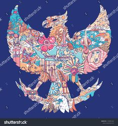 Find Beautiful Indonesia Garuda Silhouete stock images in HD and millions of other royalty-free stock photos, illustrations and vectors in the Shutterstock collection. Thousands of new, high-quality pictures added every day. Badge Design, Box Design, Flyer Design, Design Ideas, Indonesian Art, Silhouette Vector, Bali, Doodle Art, Vector Art