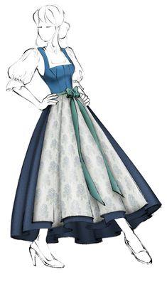 Dirndl im Miederschnitt (Modell 3) - <p>Sehr beliebtes Dirndl im Miederschnitt mit leicht gewölbtem Ausschnitt. Eingesetzte Brust-Zwickel für perfekte Passform, Haftel-Verschluss, Rücken glatt. Fertigung in Maßkonfektion möglich!</p> Vintage Crochet, Cinderella, Disney Characters, Fictional Characters, Couture, Disney Princess, Pictures, Dirndl, Smooth