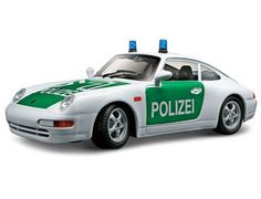 The Burago Porsche 911 Carrera Polizei, is a diecast model car from this fantastic manufacturer in 1/24th scale. Bburago's range of 1/24 scale die cast cars offer the collector detail and value for money. With subjects spanning motoring era's old and new and from some of the world's biggest car names, there's sure to be something for all collections. Each model has been replicated in 1/24 scale meaning you can collect and show more in a smaller space.