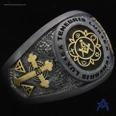 Customizable Black Oxidized Masonic Ring 41 Classy What Does Mean On A Ring Masonic Art, Masonic Jewelry, Masonic Lodge, Masonic Symbols, Three Diamond Ring, Freemason Ring, Mode Rock, Templer, Engraved Gifts