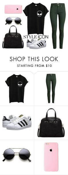 """""""Untitled #13"""" by jazz13-896 ❤ liked on Polyvore featuring H&M, adidas Originals, Furla, women's clothing, women's fashion, women, female, woman, misses and juniors"""