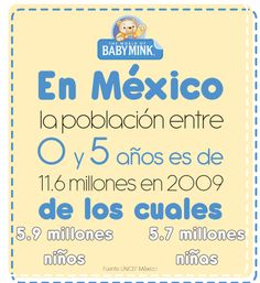 Población de niños en México en 2009.