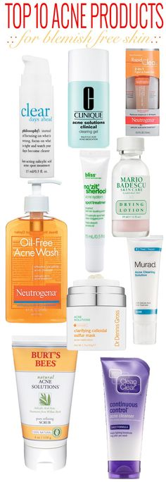 The best acne products to get rid of pimples and blemishes fast.