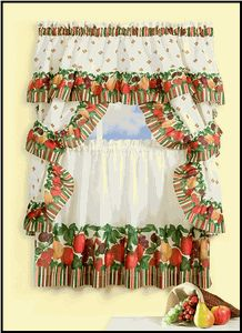 Tutti Frutie Is A Colorful Fruit Theme Curtain Set. The Set Includes One  Pair Of. Tier CurtainsWindow CurtainsKitchen ...