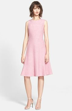 kate spade new york 'fluted' bouclé fit & flare dress available at #Nordstrom