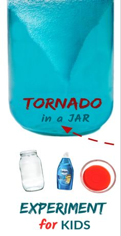 Wow the kids and make a tornado in a jar! This simple science activity is great for kids of all ages and contains the mess- gotta love that! Teach kids about the weather with this fun tornado in a jar experiment! Science Experiments For Preschoolers, Preschool Science Activities, Science Projects For Kids, Cool Science Experiments, Science Curriculum, Science Fair, Science Today, Science Experiment For Kids, Physical Science