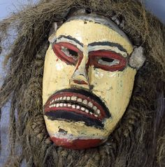 Nyau Mask - CHEWA - Zambia, Katete District African Art, Carnival, Halloween Face Makeup, Painting, Carnavals, Painting Art, Paintings, Painted Canvas, Drawings