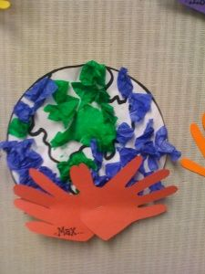 Earth Day art project - Re-pinned by @PediaStaff – Please Visit http://ht.ly/63sNt for all our pediatric therapy pins