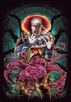 A design I did for Cavity Colors. Based on the sadistic character of Pennywise the clown, from Stephen King's It. - The Art Of Greenway
