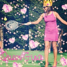 #wcw @Gina_Liano playing tennis in heelz like a tru queen?? LUV U GINA! #rhom