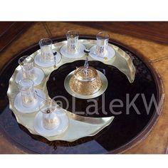 سيت شاي تركي بشكل الهلال .... Crescent shape tea serving set