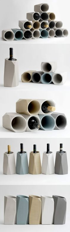 Wine Cooler - Long gone are the days of bulky buckets filled with ice to keep your wine or champagne chilled | Read Full Story at Yanko Design
