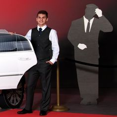 Chauffeur Silhouette Kit is a great add on to the White Stretch Limousine Photo Op Kit.