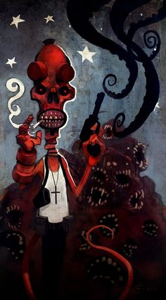 HELLBOY N' SHIT by Colin Fix #Tentacles