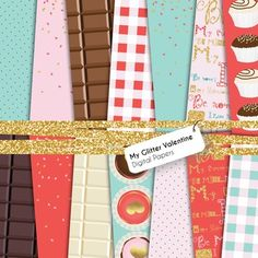 Valentine's day digital papers to dress up your products with :)