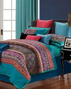 Superior Rosewood 300 Thread Count Embroidered Duvet Cover Set, Full/Queen