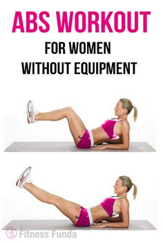 #Abs_workouts for women without equipment.
