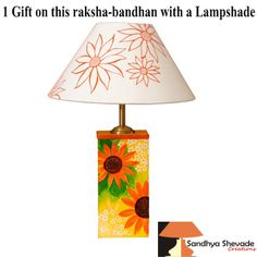 On this coming ‪#‎raksha‬ ‪#‎bandhan‬ 2016 with a ‪#‎Design‬ ‪#‎Lampshades‬ ...just try once it will make You happy..www.sandhyashevadecreations.com