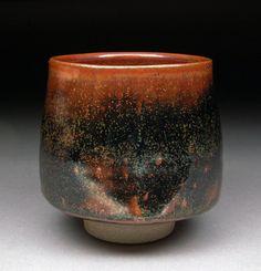 Yunomi Tea Cup glazed with Teadust Tenmoku