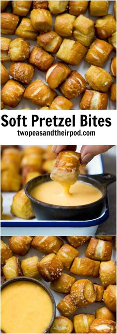 Soft Pretzel Bites Recipe on twopeasandtheirpod.com These are the BEST pretzel bites and they are so easy to make at home! They make a great snack and are perfect for parties!