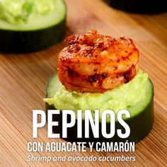 Pepinos con Aguacate y Camarón [Video] Seafood Recipes, Appetizer Recipes, Mexican Food Recipes, Diet Recipes, Cooking Recipes, Healthy Recipes, Healthy Snacks, Healthy Eating, Food Videos