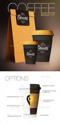 Graphxfree Coffee Cup / Coffee Package Mock-Up FREE Photoshop PSD | 4000x4000 px | 139.2 Mb