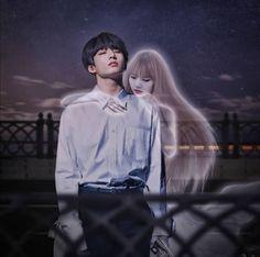 LisKook Fanart Kpop Couples, Anime Couples, Bts Jungkook, Taehyung, Bts Girlfriends, Bts Kiss, Yoonmin, Lisa Blackpink Wallpaper, Overlays Tumblr