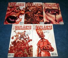 signed REMAINS #1 2 3 4 5 1st print set STEVE NILES IDW comic 2004 ZOMBIE HORROR in Collectibles | eBay