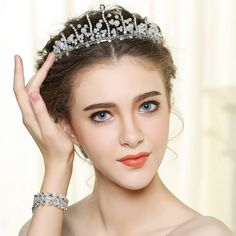 Venusvi Wedding Birdal Pageant Princess Tiara Headband Crown Headpiece - Rhinestones and Bead, Women -- You can find more details by visiting the image link. Princess Tiara, Woman Reading, Crown Headband, Pageant, Headpiece, Rhinestones, Headbands, Hair Care, Image Link