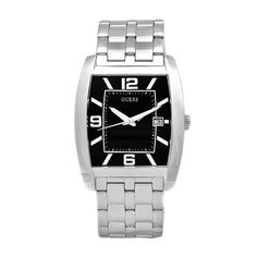 GUESS Men's W85051G1 Steel Stainless Steel Black Guilloche Dial Watch *** Continue to the product at the image link.