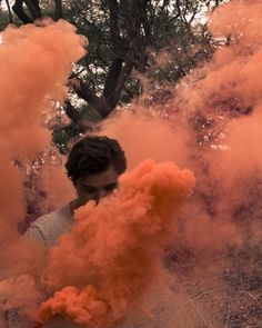 Embrace your inner orange because orange is the happiest colour! Shot by: Smoke Art, Happy Colors, Woods, Happiness, Colour, Orange, Drawings, Outdoor, Color
