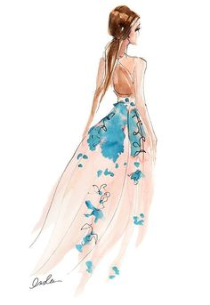 Fashion Illustration - I don't always go to fashion shows. But when I do, I go to Lela Rose | Inslee By Design