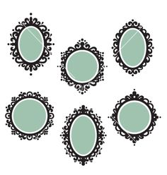 Antique frames vector 492896 - by candycatdesigns on VectorStock� I like these, maybe the simpler one in upper right corner? ;) @Angela Cross