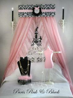 CRIB Canopy Crown Princess Personalized Damask by SoZoeyBoutique, $39.95